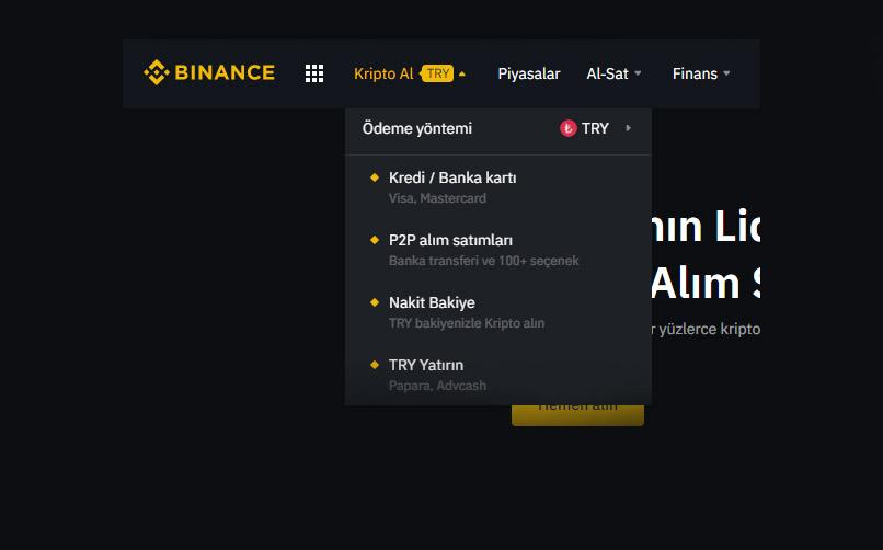Binance'den Bitcoin Nasıl Alınır?