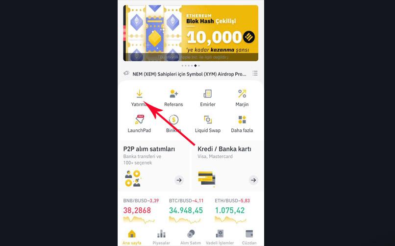 Mobil uygulama ile bitcoin satın alma